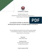 LAS TRADUCCIONES AL ESPAÑOL DE LA OBRA DE FRANÇOIS VILLON