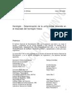 NCh1789-1986 Determinacion de La Uniformidad Obtenida en El Mezclado Del Hormigon