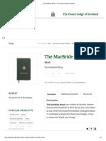 The MacBride Ritual - The Grand Lodge of Scotland