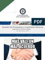 Gestión de Proyectos y Contratos Mineros - Indice de Temas y Sesiones