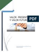 El Valor Del Dinero en El Tiempo. Valor Presente, Valor Futuro