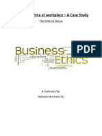 Ethical Dilemma at Workplace