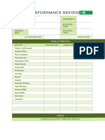 IC Simple Performance Review Template 9431