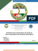 Grupo 5 Antihipertensivos-Antagonistas de Canales de Calcio-bloqueadores de Receptores Adrenérgicos