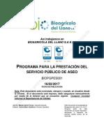 BIOPGPES001-03 Programa de La Prestacion Del Servicio