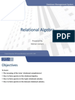 7. Relational Algebra