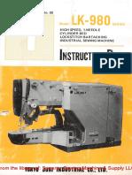 Juki LK-980 Instruction Manual