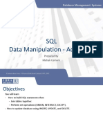 SQL - Data Manipulation Advanced