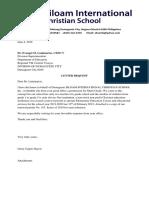 Endorsement Letter for Goverment Recognition