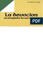 Alfonso de La Mora. La Devocíon en El Espiritu de San Ignacio.