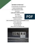 Infforme de Practicas - Juan Cesar Urbina Guarniz Laboratorio de Carbon de Casa Grande - Copia