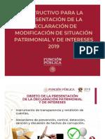 Instructivo Declaraci n Patrimonial 2019