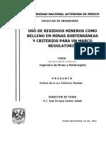 USO DE RESIDUOS MINEROS COMO RELLENO EN MINAS.pdf