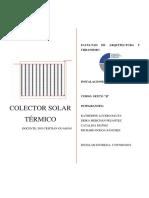 colector solar termico