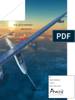 Solar Powered Aircrafts