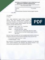 Surat Undangan Workshop FKK 2019