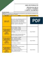 Cronograma Entrenamiento Coordinador San Andres Carmelo Oquendo