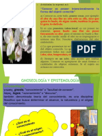 Gnoselogia y Epistemologia