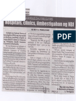 Balita, June 17, 2019, Hospitals, clinics iimbestigahan ng NBI.pdf