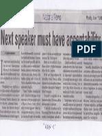 Manila Bulletin, June 17, 2019, Next speaker must have acceptability.pdf