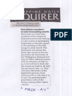 Philippine Daily Inquirer, June 17, 2019, New House members to take lawmaking course.pdf