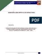 Memoria Descriptiva Estructuras -Jose Olaya III