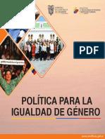 Politica Para La Igualdad de Genero 2018