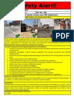 EHS Alert 009 - Traffic Safety Alert