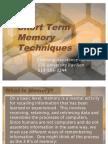 Short Term Memory Techniques