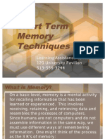 Short Term Memory Techniques