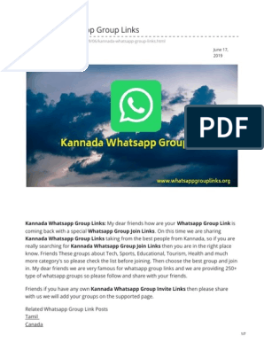 Whatsappgrouplinks org-Kannada Whatsapp Group Links