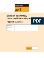 2018 Ks1 English GPS Paper2 Questions