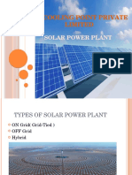 Solar Power Plant(on-OfF Grid)