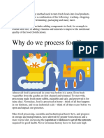 Food processing is any method used to turn fresh foods into food products.docx