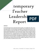 miakatar17432825 contemporary teacher leadership report assignment 1