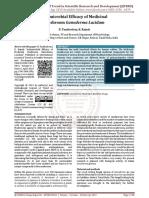 Antimicrobial Efficacy of Medicinal Mushroom Ganoderma Lucidum