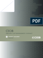 No.1 CIOB TCM15 Main Contract Agreement