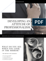 Developing an Attitude of Professionalism