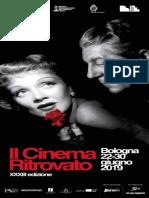 Il Cinema Ritrovato 2019 - Programma