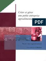 CTA 1 Creer Et Gerer Une Petite Entreprise Agroalimentaire