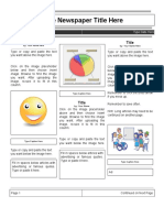 Elementary Student Newspaper Template Page 1