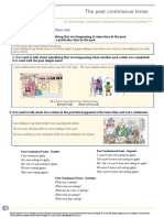 The past continuous tense Elementary.pdf