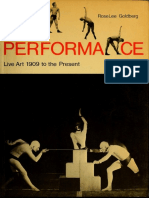 Goldberg RoseLee Performance Live Art 1909 to the Present