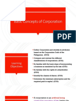 Basic Concepts of Corporation