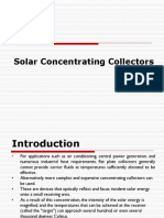 Solar Concentrating Collectors