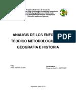 Analisis de Los Enfoques Teorico Metodologicos en Geografia y Determinismo Geografico