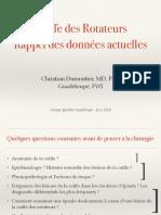 epidemiologie et physiopathologie des lésions de la coiffe des rotateurs