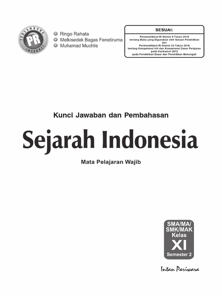Kunci Jawaban Lks Sejarah Indonesia Kelas 11 Semester 2 Rismax