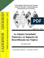 A Desertificação Como Forma de Degradação Ambiental No Brasil