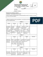 Evaluación i Parcial 6to Basica